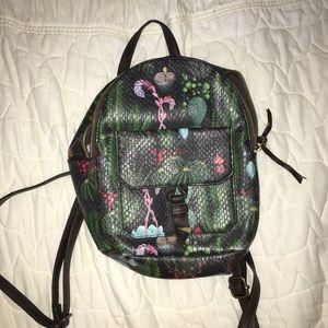 cute succulent mini backpack